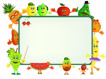 Fruit cartoon background Stock Photos