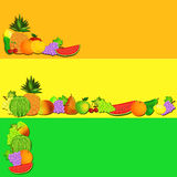 Fruit cartoon banner Royalty Free Stock Images
