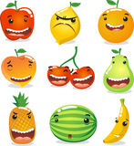 Fruit cartoon character set Royalty Free Stock Photo