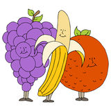 Fruit Cartoon Characters Stock Photo