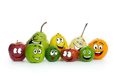 Fruit cartoon characters Royalty Free Stock Photo