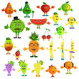 Fruit cartoon icons Stock Photo