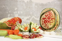 Fruit carved Royalty Free Stock Photography
