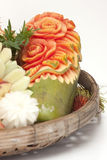 Fruit carved Royalty Free Stock Images