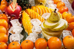 Fruit carved  beautiful shapes Stock Photos