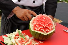 Fruit carving Stock Image