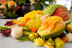 Fruit carving Royalty Free Stock Image