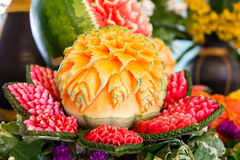 Fruit carving Royalty Free Stock Photography