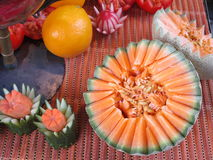 Fruit carving on Onion Festival in Weimar Stock Photography