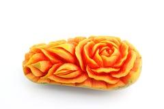 Fruit carving, Papaya carving details Stock Images