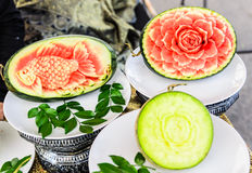 FRUIT CARVING Royalty Free Stock Images