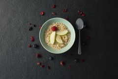 Fruit cereal in bowl Royalty Free Stock Images