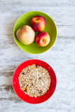 Fruit and cereals Royalty Free Stock Image