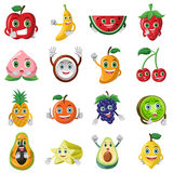 Fruit character icons Stock Photo