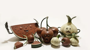 Fruit characters Royalty Free Stock Photos