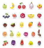 Fruit characters vector illustration. Stock Photography