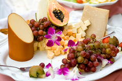 Fruit and cheese Royalty Free Stock Image
