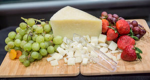 Fruit and Cheese Pairing Stock Image