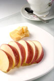 Fruit and cheese plate. Royalty Free Stock Image