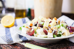 Fruit and cheese salad Royalty Free Stock Images