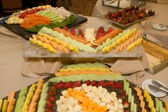Fruit Cheese Tray royalty free stock photos