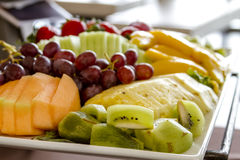 Fruit and Cheese Tray on Display Stock Image