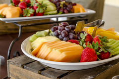 Fruit and Cheese Tray on Display Royalty Free Stock Images