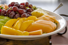 Fruit and Cheese Tray on Display Royalty Free Stock Photography