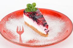 Fruit cheesecake Stock Photography