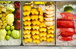 Fruit Chilled In Glass Cupboard. Royalty Free Stock Photography