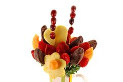 Fruit & Chocolate Arrangement Royalty Free Stock Photography