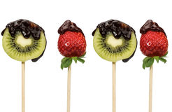 Fruit and chocolate Royalty Free Stock Photo