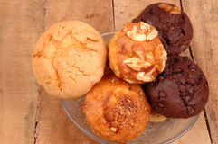 Fruit and chocolate muffins Stock Image