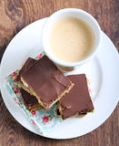 Fruit and chocolate slices. Selective focus Royalty Free Stock Image