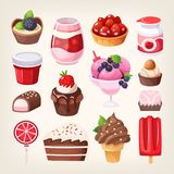 Fruit and chocolate sweet desserts Royalty Free Stock Photo