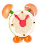 Fruit and citrus volume clock Stock Images