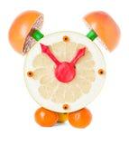 Fruit and citrus volume clock Stock Image