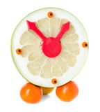 Fruit and citrus volume clock Royalty Free Stock Photography