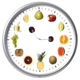 Fruit clock Royalty Free Stock Photo