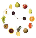 Fruit clock Royalty Free Stock Images