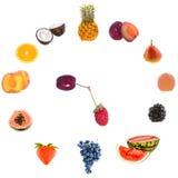 Fruit clock. Royalty Free Stock Image