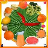 Fruit clock Royalty Free Stock Image
