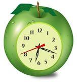 Fruit clock illustration Stock Photos
