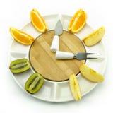 Fruit clock Stock Image