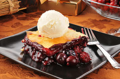 Fruit cobbler ala mode Stock Photography