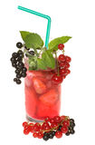 Fruit cocktail with berries royalty free stock photo