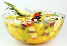 Fruit Cocktail. Bowl of Fruit Coktail Stock Photography