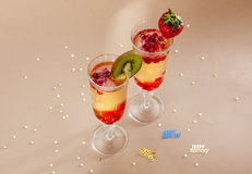 Fruit cocktail Royalty Free Stock Photo