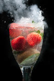 Fruit cocktail drink explosion Royalty Free Stock Image