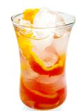 Fruit cocktail drink with orange and ice Royalty Free Stock Images